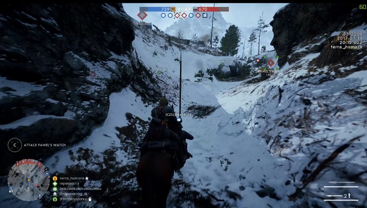 """【BF1】雪山マップ""""Lupkow Pass""""CTE環境で配信開始!とにかく騎兵が多い"""